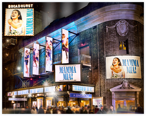 See MAMMA MIA! at Broadway's Winter Garden Theatre